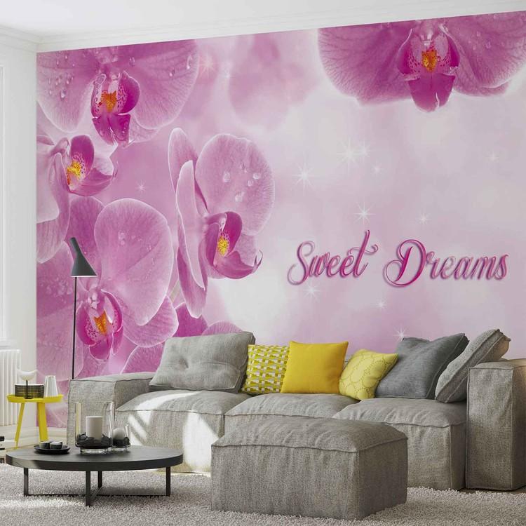 Carta da parati fiori orchidee rosa for Carta parati fiori
