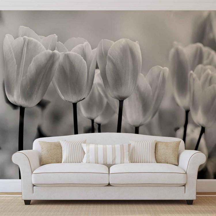 Carta da parati fiori tulipani for Carta parati fiori