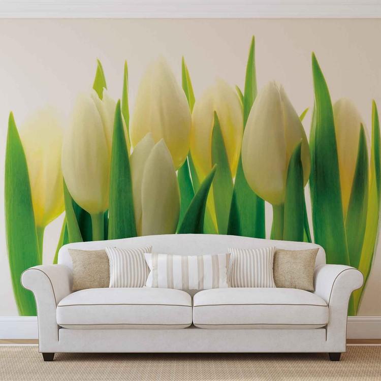 Carta da parati fiori tulipani natura for Carta parati natura