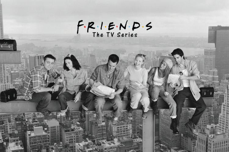 Carta da parati Friends - Pranzo in cima a un grattacielo