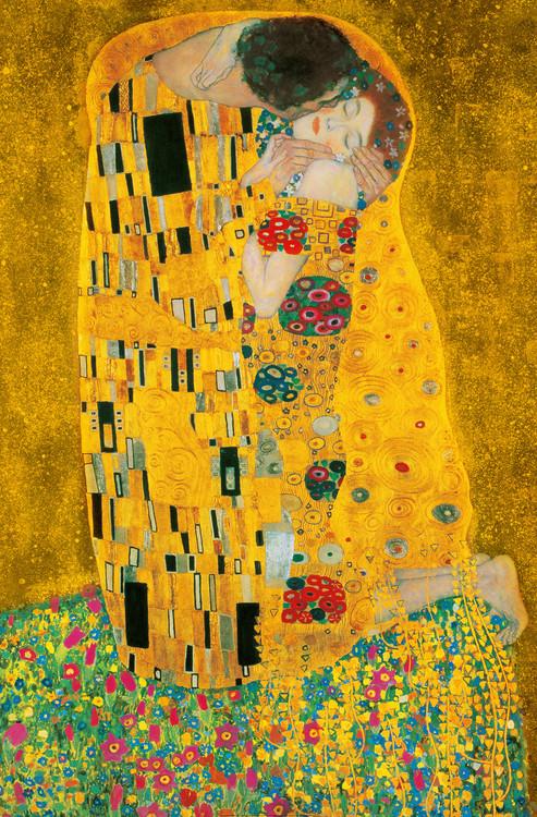 Carta da parati Gustav Klimt - Il bacio, 1907-1908