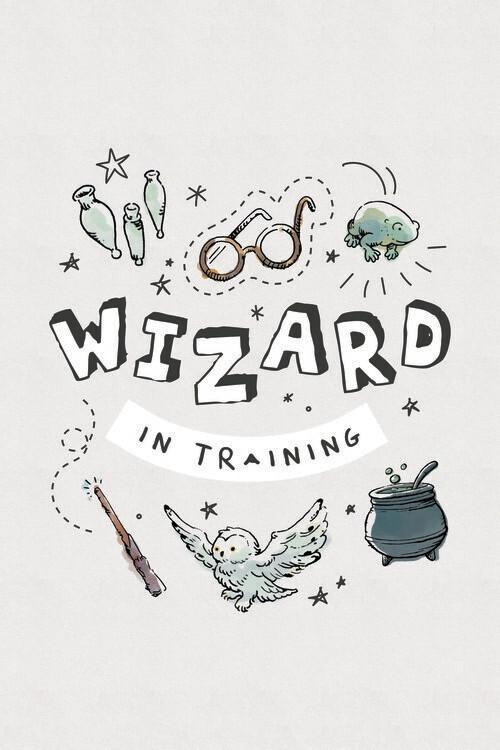 Carta da parati Harry Potter - Addestramento per maghi