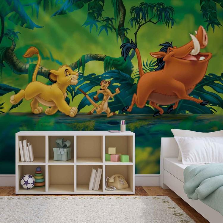 Carta da parati Il re di leone di Disney Pumba Simba