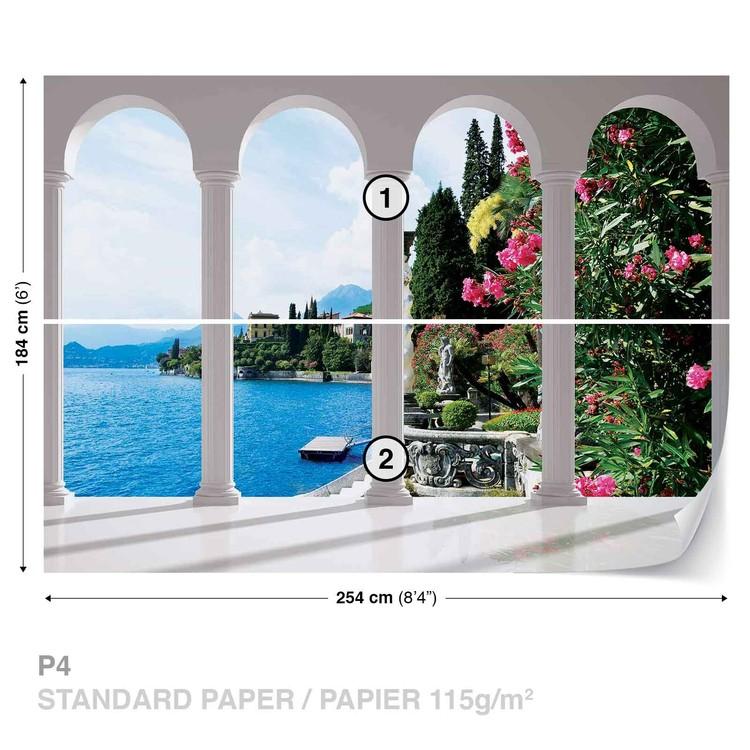 Carta da parati Lago di Como Italia Veduta con Archi