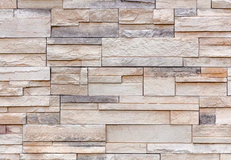 Carta Da Parati Texture carta da parati - light stone wall texture | europosters.it