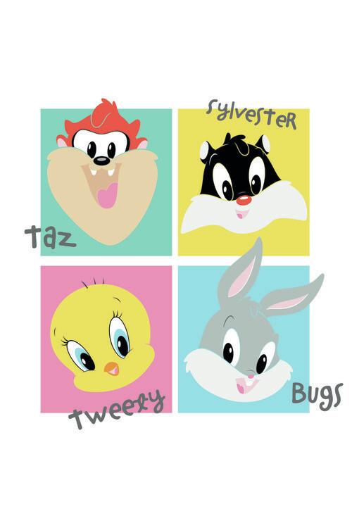 Carta da parati Looney Tunes - Mini Crew