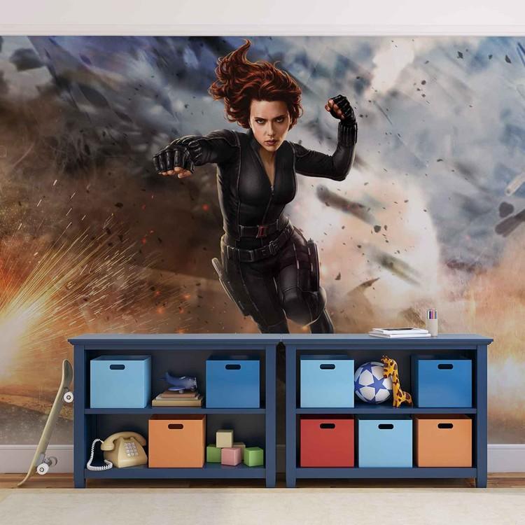 Carta da parati Marvel Avengers Black Widow - I Vendicatori La Vedova Nera