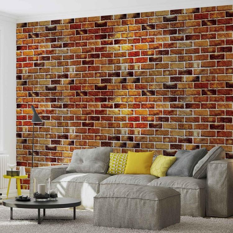 Carta da parati muro di mattoni for Carta da parati effetto muro mattoni