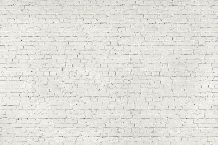 poster murali muro di mattoni bianchi