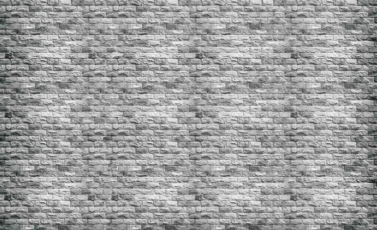 Carta da parati muro mattoni grigio for Carta da muro adesiva