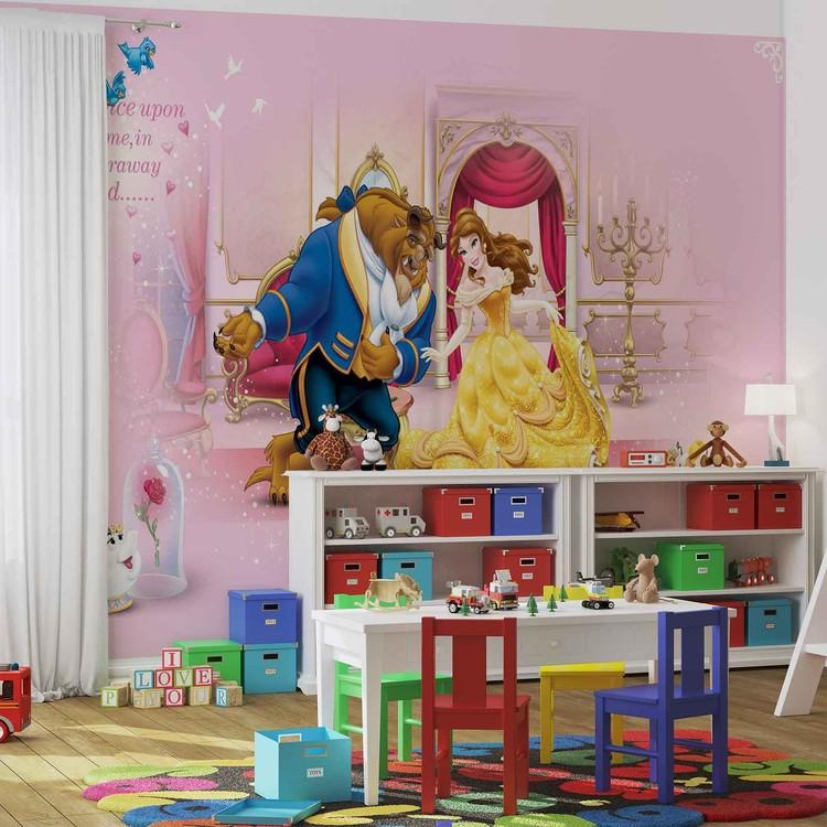 Carta da parati  Principesse Disney La Bella e La Bestia