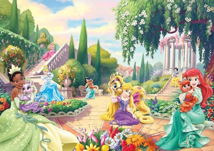 Carta da parati  Principesse Disney Tiana Ariel Aurora