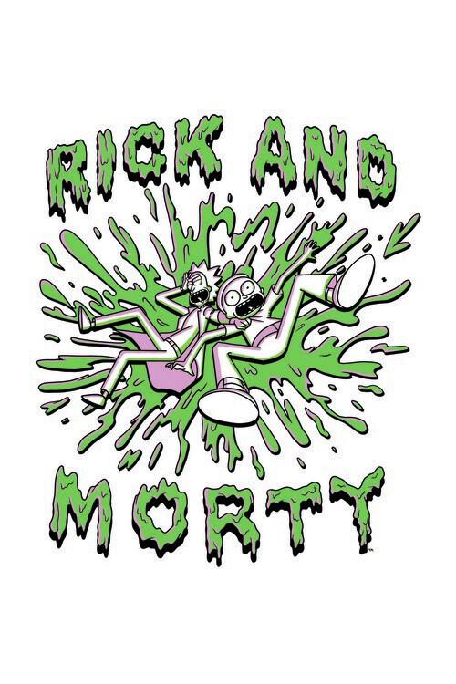 Carta da parati Rick and Morty - The Duo
