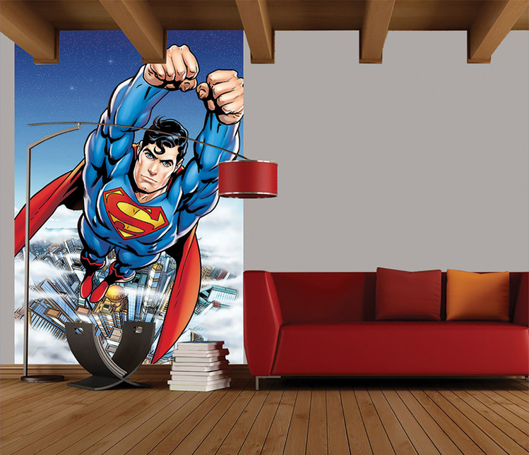 Carta da parati Superman Flying