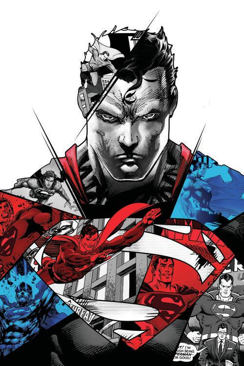Carta da parati Superman - Split