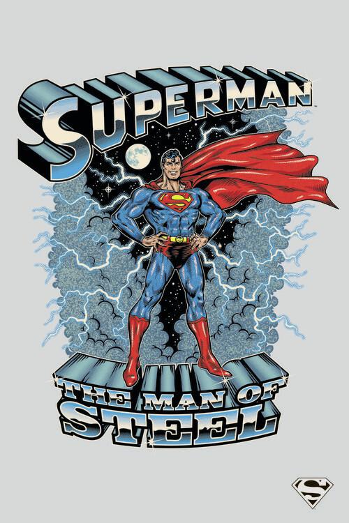 Carta da parati Superman - The man of steel