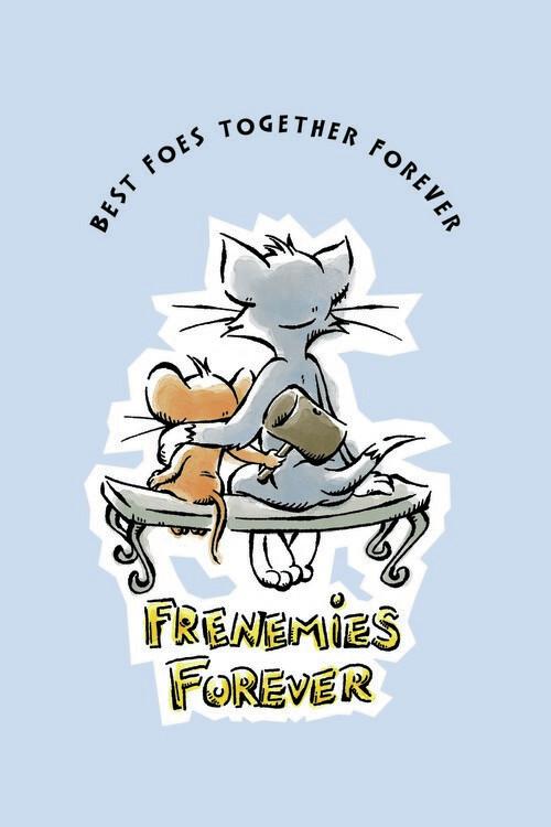 Carta da parati Tom e Jerry - Nemici per sempre
