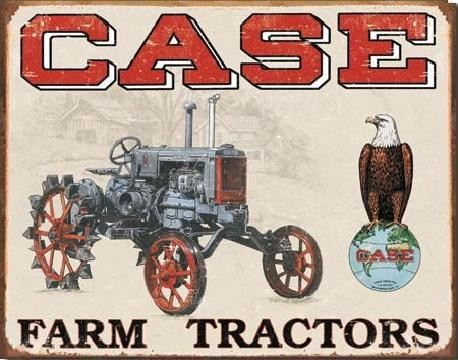 Cartel de metal CASE TRACTOR - cc high
