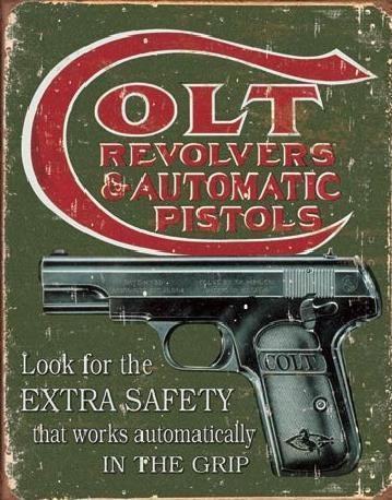 Cartel de metal COLT - extra safety