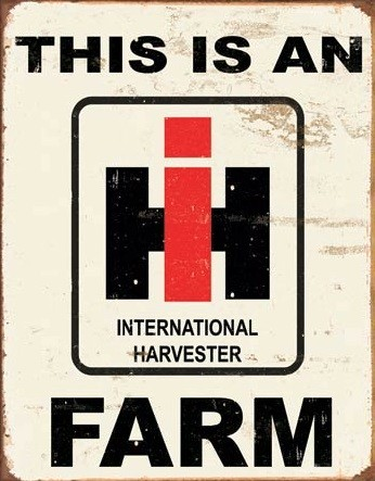Cartel de metal IH Farm