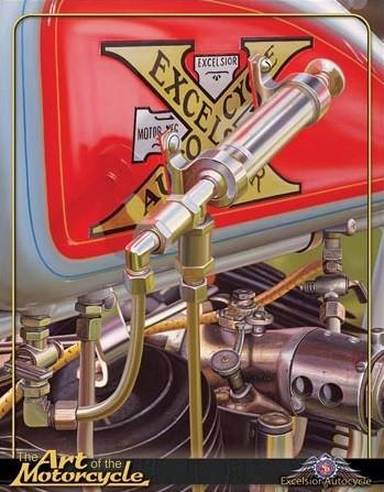 Cartel de metal Jacobs - Excelsior Autocycle