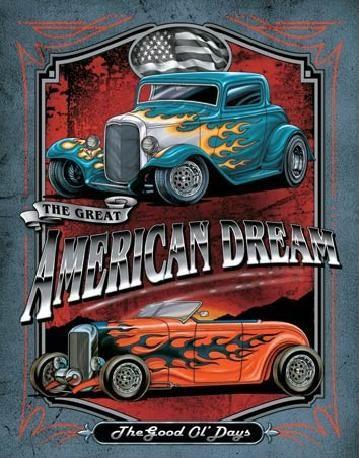 Cartel de metal LEGENDS - american dream