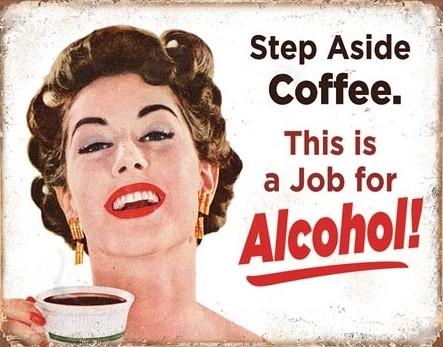 Cartel de metal Step Aside Coffeee