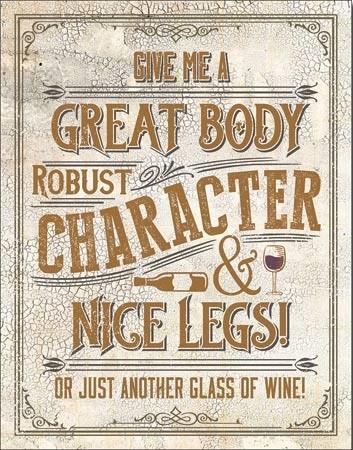 Another Glass of Wine Carteles de chapa