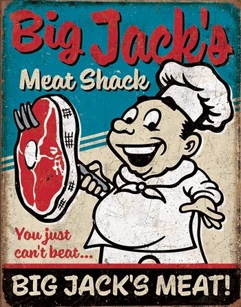 Big Jack's Meats Carteles de chapa