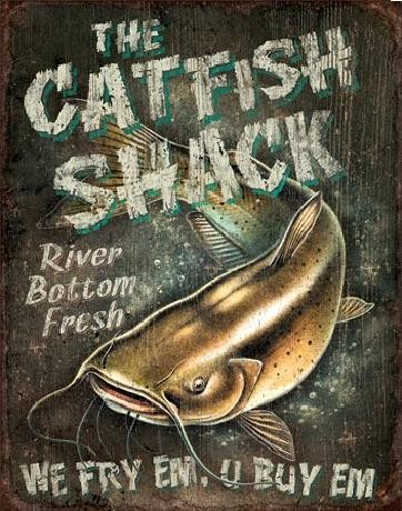 CATFISH SHACK Carteles de chapa