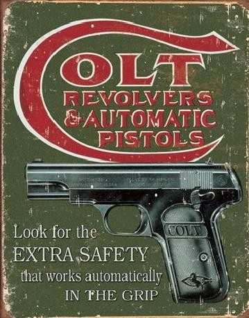 COLT - extra safety Carteles de chapa