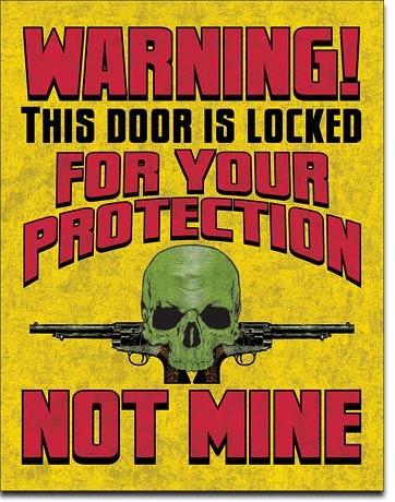 Door is Locked Carteles de chapa