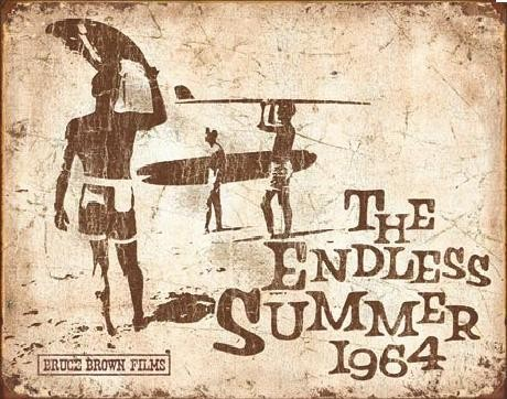 Endless Summer Retro Carteles de chapa