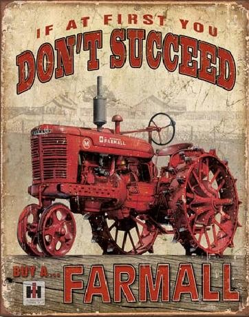 FARMALL - Succeed Carteles de chapa