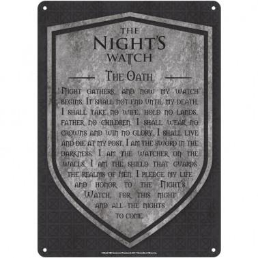 Game Of Thrones - Nights Watch Carteles de chapa