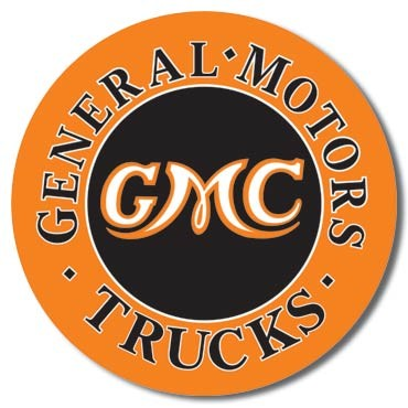 GMC Trucks Round Carteles de chapa