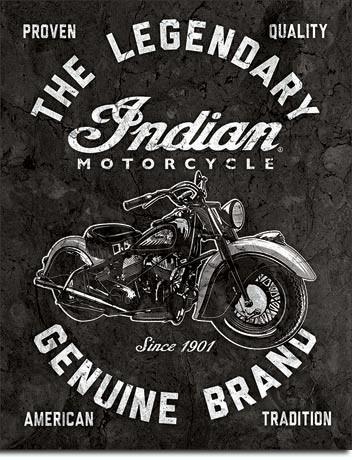 Indian Motorcycles - Legendary Carteles de chapa