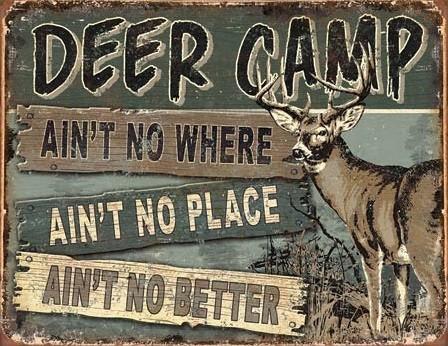 JQ - Deer Camp Carteles de chapa