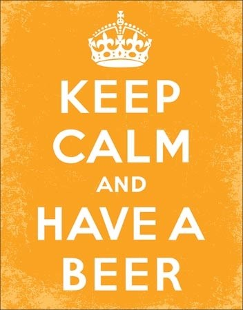Keep Calm - Beer Carteles de chapa