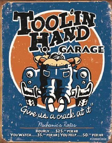 MOORE - Tool'in Hand Carteles de chapa