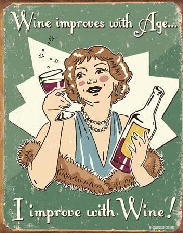 SCHONBERG - wine improved Carteles de chapa