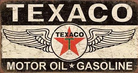 Texaco Winged Logo Carteles de chapa