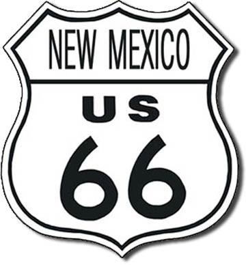 US 66 - new mexico Carteles de chapa