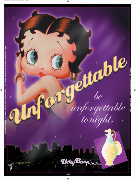 Cartelli Pubblicitari in Metallo BETTY BOOP UNFORGETTABLE