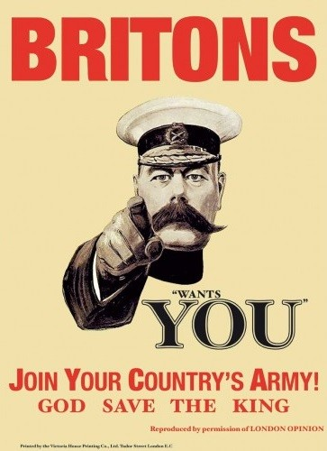 Cartelli Pubblicitari in Metallo BRITONS WANTS YOU