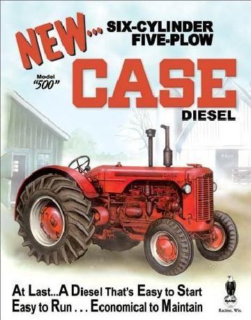Cartelli Pubblicitari in Metallo CASE - 500 diesel