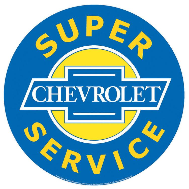 Cartelli Pubblicitari in Metallo CHEVROLET SUPER SERVICE