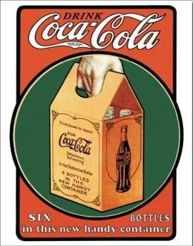 Cartelli Pubblicitari in Metallo COCA COLA SIX PACK