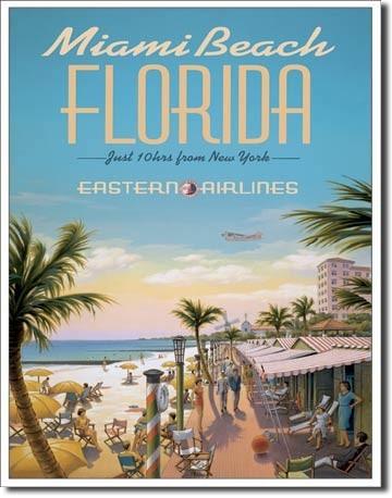 Cartelli Pubblicitari in Metallo ERICKSON - miami beach