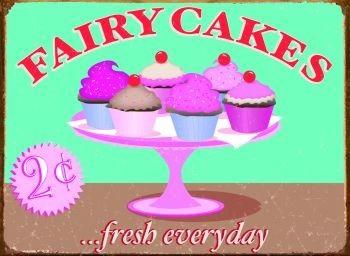 Cartelli Pubblicitari in Metallo FAIRY CAKES